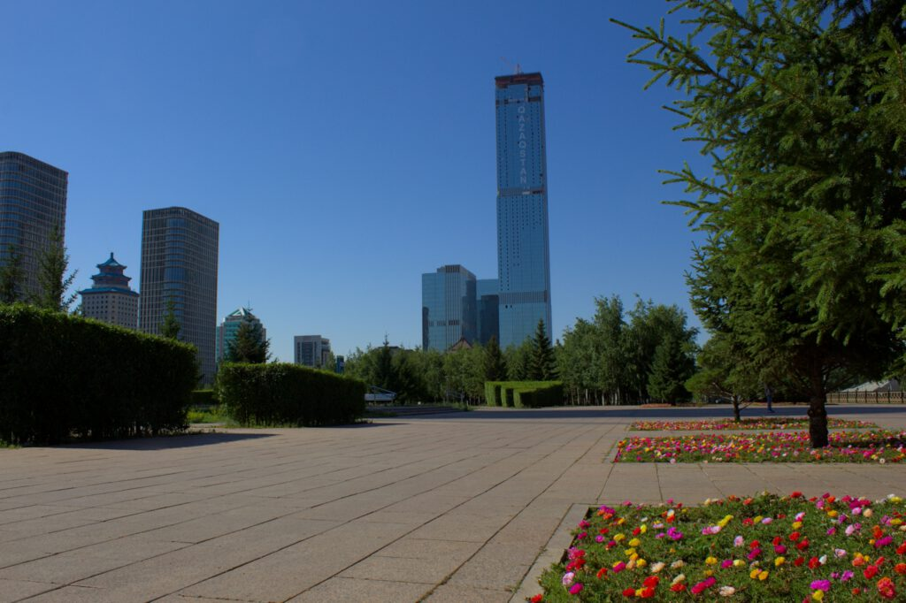 Info Shymkent - View to Abu Dhabi Plaza in Nur-Sultan in 2021